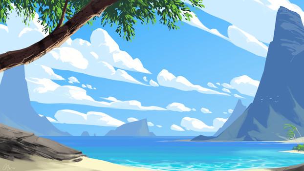 Environmen - Tropical Beach View