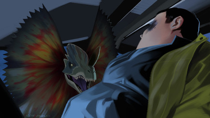 Jurassic Park_18_Dilophosaurus Surprise.