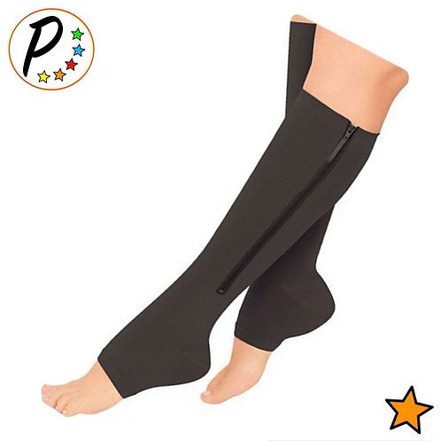 Kid's Edition Open Toe/Closed Toe 15-20 mmHg Moderate Compression Zipper Sock