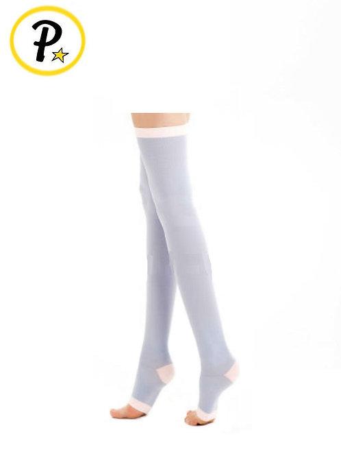 Open Toe Full Length Slimming Socks, Grey