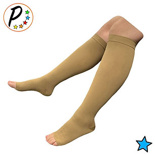 Traditional Open Toe 30-40 mmHg X-Firm Compression Grade Calf Leg Swelling Socks