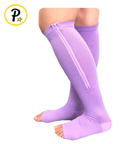 ed914fa349 Open Toe 15-20 mmHg Zipper Compression Swelling Veins Relief Sleep Sock