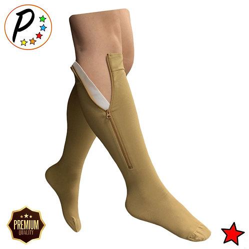 Premium Closed Toe 20-30 mmHg Firm Compression With YKK Zipper Leg Swelling Sock