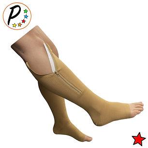 Original Open Toe 20-30 mmHg Firm Zipper Compression Leg Swelling Knee High Sock