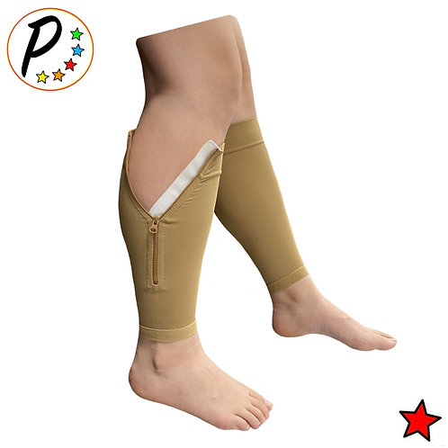 (BIG & TALL) Premium Calf Sleeve With Zipper 20-30 mmHg Shin Compression