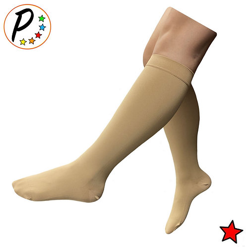 (BIG & TALL) Traditional Closed Toe 20-30 mmHg Compression Calf Swelling Sock
