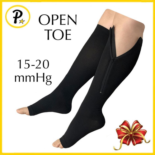 b7c274df7e 15-20 mmHg GRADE COMPRESSION - These Zipper Compression Socks Offers True  Graduated Compression To Provide Therapeutic Pressure As It Helps To  Decrease In ...