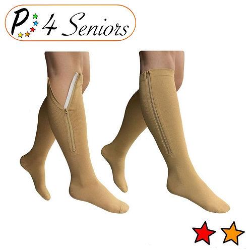 Seniors 15-20 mmHg & 20-30 mmHg Zipper Compression Open/Closed Toe Mix & Match