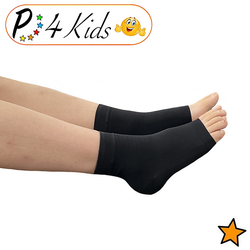 Kid's Ankle 15-20 mmHg Compression Foot Leg Open Closed Toe Sleeve Sock
