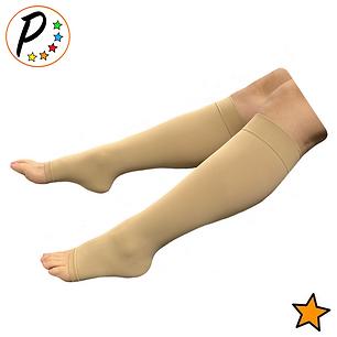 Traditional 15-20 mmHg Moderate Compression Leg Calf Circulation Open Toe