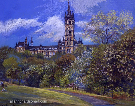Glasgow University- view from Kelvinbridge