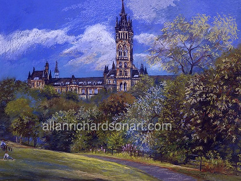 'Glasgow University From Kelvingrove'