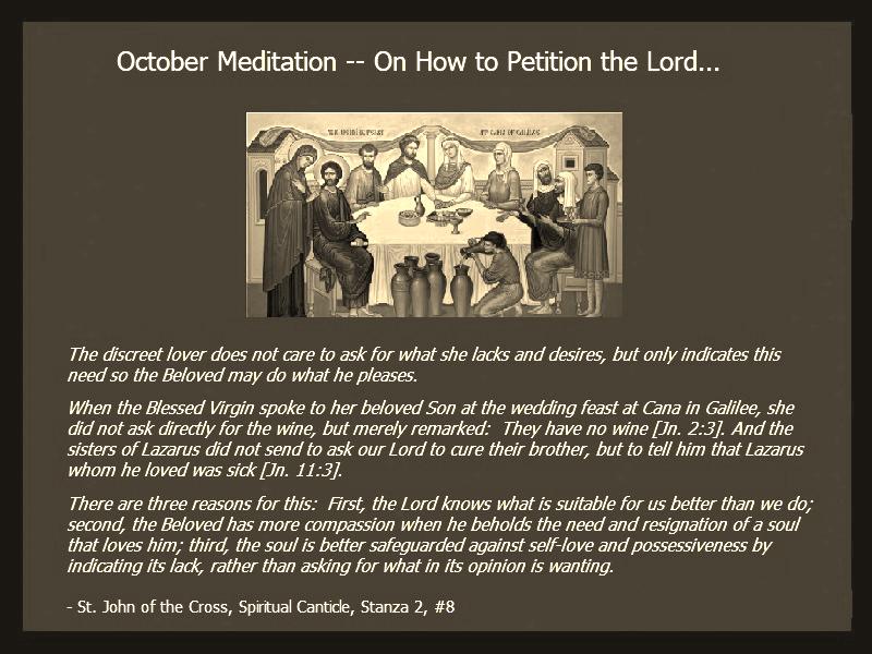 Oct Meditation