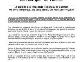 La gratuité des Transports Régionaux en question : Un enjeu économique, une utilité sociale, une néc