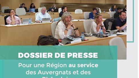 """DOSSIER DE PRESSE - BUDGET RÉGIONAL 2020 """" Pour une Région au service des Auvergnats et des Rhô"""
