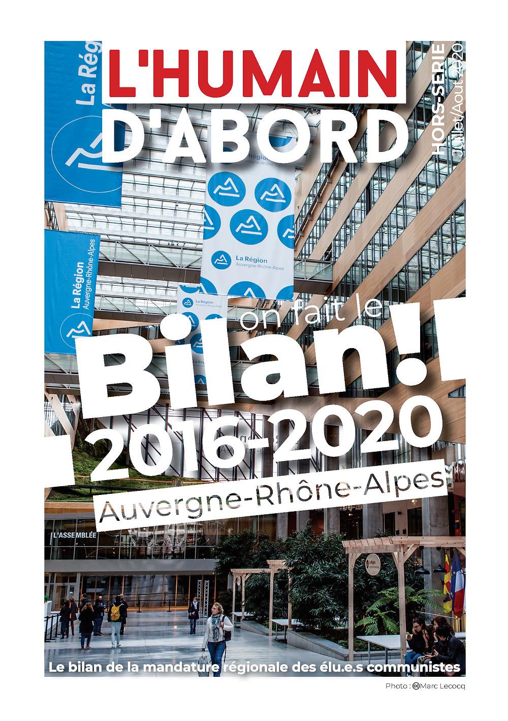 Les conseillers régionaux communistes d'Auvergne Rhône-Alpes dresse le bilan de la mandature 2016-2020