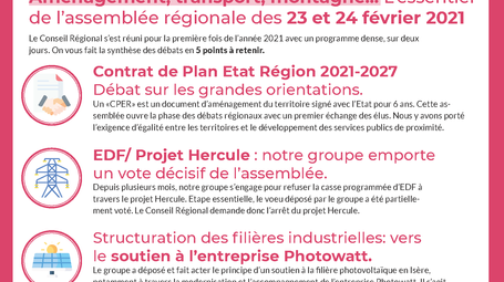 Retour sur l'Assemblée Régionale -  février 2021 -