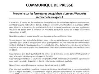 Moratoire sur les fermetures de guichets en gare : Laurent WAUQUIEZ raccroche les Wagons