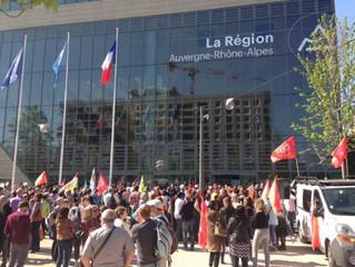 Les élu.e.s communistes se mobilisent aux côtés des agents du Conseil Régional et exigent un plan d&