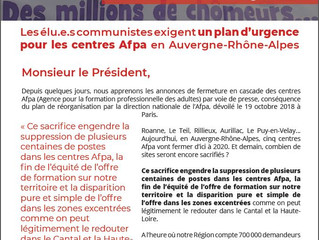 Nous réclamons d'urgence un Plan de soutien à l'AFPA en Auvergne Rhône-Alpes