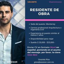 RESIDENTE DE OBRA