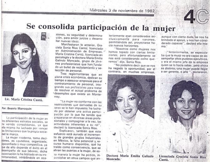 Se consolida participación de la mujer