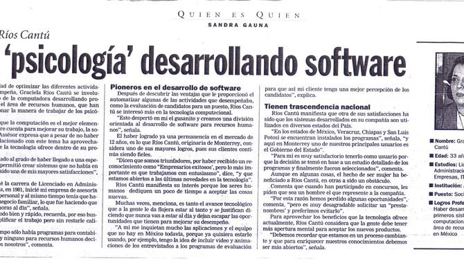 Usa psicología desarrollando software