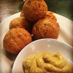 Sauerkraut Balls w/Spicy Mustard