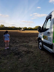 Skip Hire Van on a Farm | ATS Skip Hire