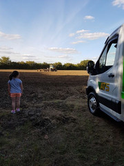 Skip Hire Van on a Farm | ATS Skip Hire