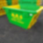 Green and Yellow Skip | Skip Hire | 2 Yard Skip | ATS Skip Colchester Hire