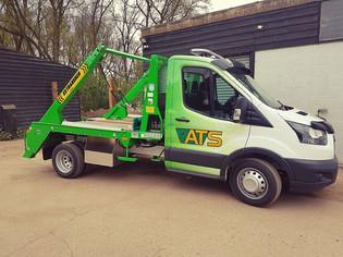 ATS Skip Hire | Green and Yellow Van