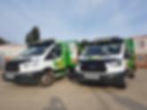 Skip Hire Colchester | ATS Ski Hire Vans | Green and White Van