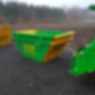 Green and Yellow Skip | ATS Skip Hire | Colcheser | Sudbury