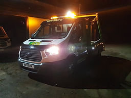 Van at night | ATS Ski Hire