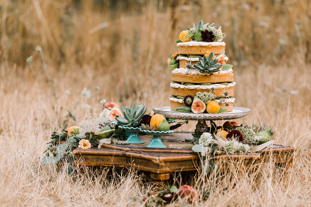 South Western Naked Wedding Cake