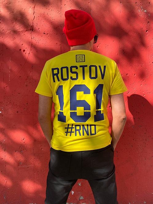 "ФУТБОЛКА «ROSTOV161RND"" ЖЕЛТАЯ"