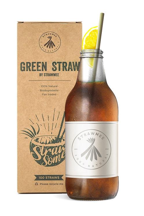 strawmee green straw flaschengröße 23cm mit verpackung