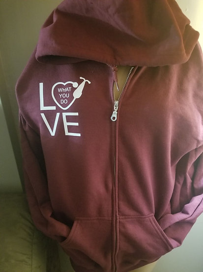 Zip up Hoodie Love what you do
