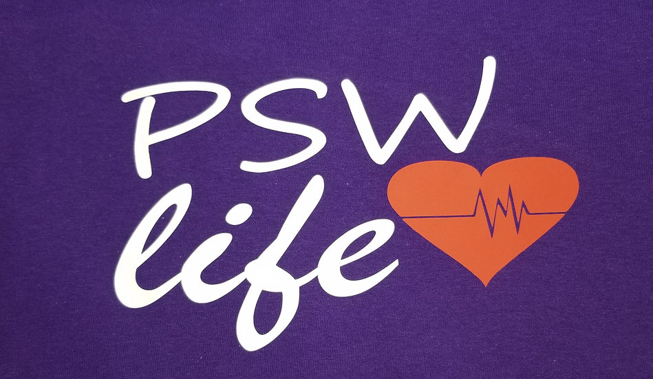 PSW life with heart long sleeve