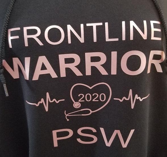 Hoodie Frontline Warrior PSW Pink Vinyl