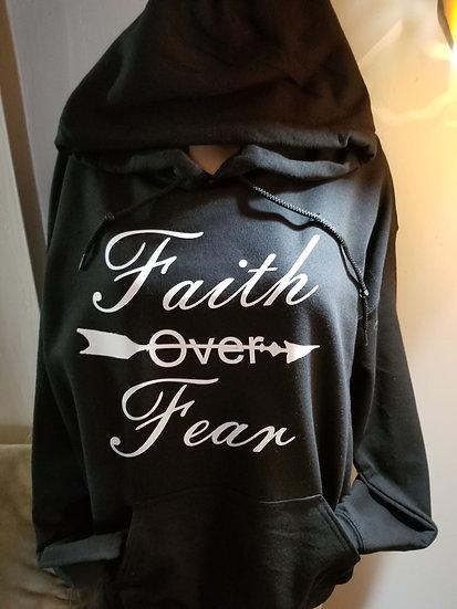 Faith over Fear with Arrow Front and Cross faith Back