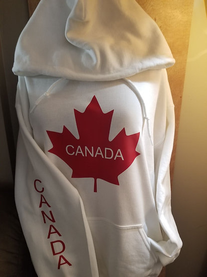 Canada Hoodie with Canada on sleeve