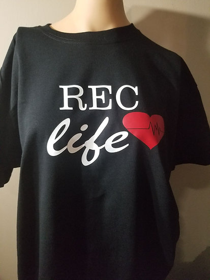 REC life with heart T-shirt