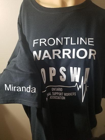 OPSWA Tshirt Frontline warrior with name