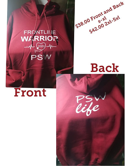 Hoodie Frontline PSW Front and Back