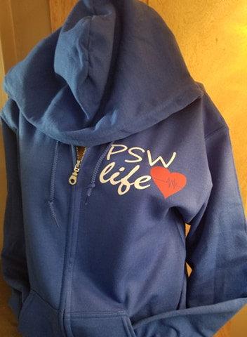 New Zip UP HOODIES Frontline psw back, PSW life front