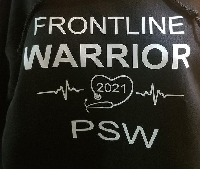 Frontline Warrior PSW/white vinyl T-shirt
