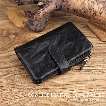 牛革2つ折り短財布 コインケース取り外し可能
