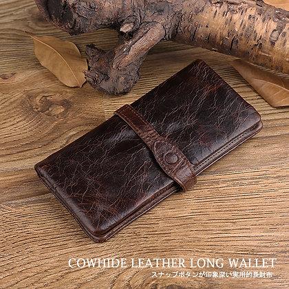 牛革ハンドメイド2つ折り長財布
